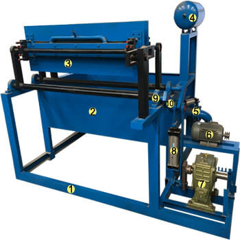 pulp moulding machine-bisection