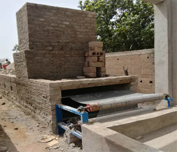 pulp moulding brick drying line